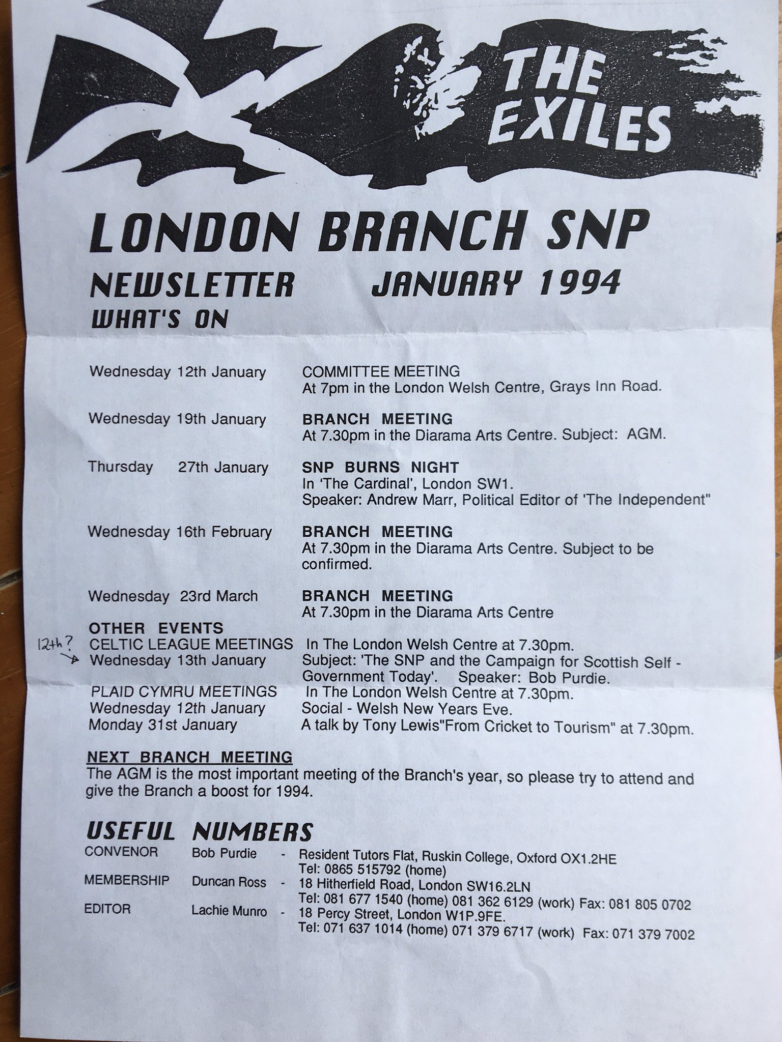The Exiles - Jan 94